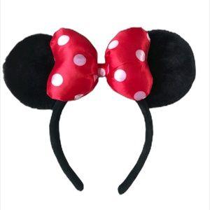 Disney Parks Minnie Mouse Ears Hat Headband Black